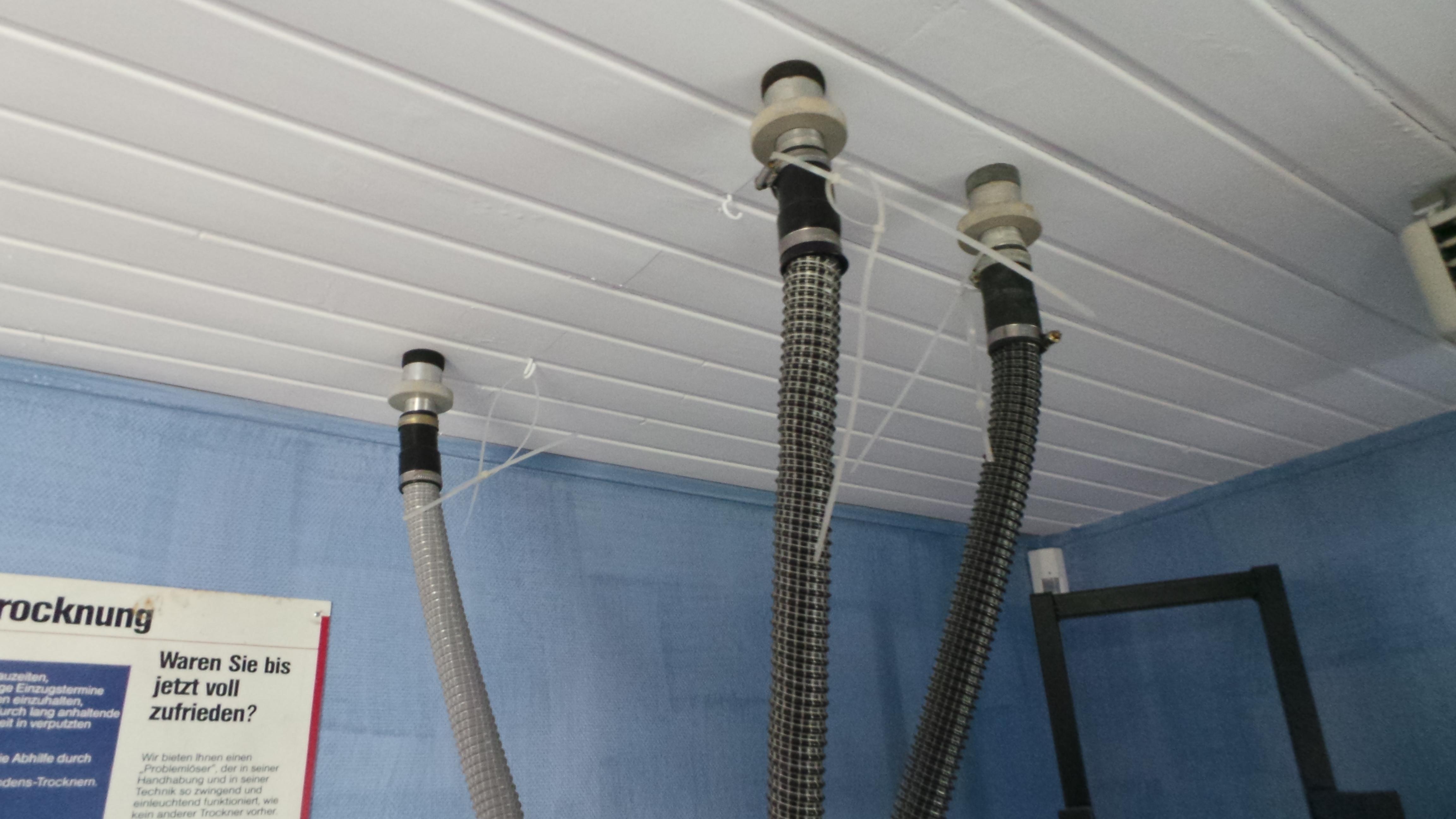 Matériel utilisé, assèchement des plafonds suspendus